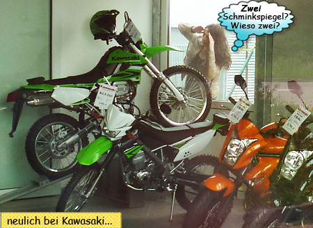 Svenja und Kawasaki KLX250 und KLX125