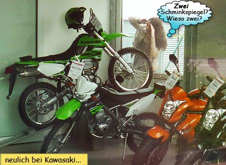 Svenja und Kawasaki KLX250 und KLX125