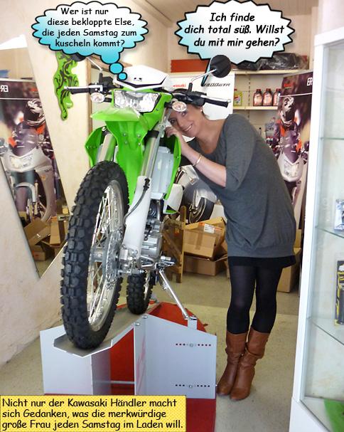 Svenja träumt von einer Kawasaki KLX250