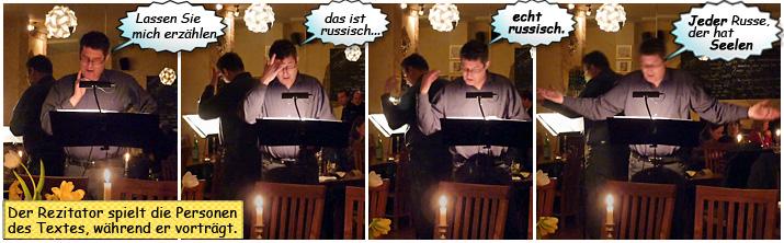 Der   Kieler Rezitator Matthias Willms bei einer Lesung