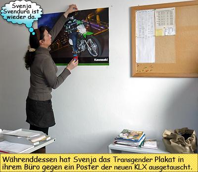 Svenja Svendura Kawasaki KLX250 Poster