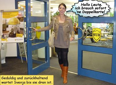 Svenja bei der HUK Versicherung in Kiel