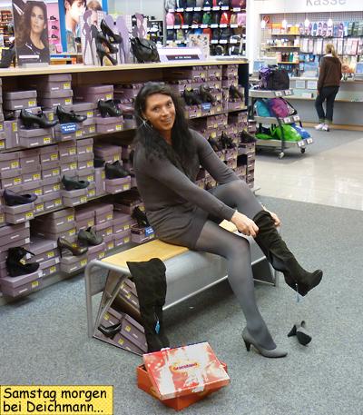 Svenja bei Deichmann CITTI-Park Schuhe kaufen