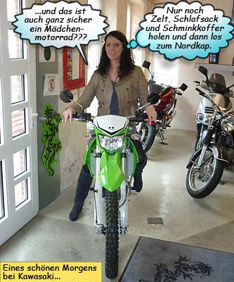 Svenja auf Kawasaki KLX 250 Enduro